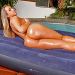 Carol Castro on inflatable naked