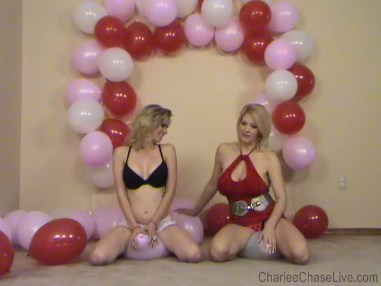Charlee pops balloon during sex