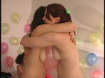 click here to watch girls and guys with balloons
