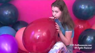 Illianna pops balloon fetish