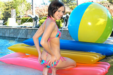 Kelly Klass on inflatables naked