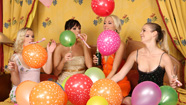 Girls with balloons naked