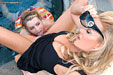 Lexi Belle wears swimring naked